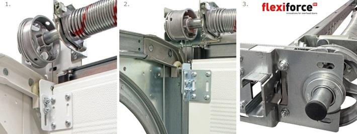 Rsc de flexiforce sistema de herrajes para puertas de garaje for Herrajes puertas correderas garaje