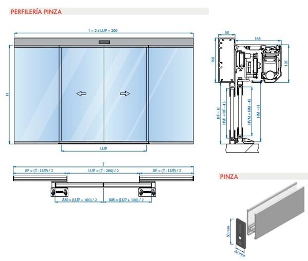 Erreka puertas autom ticas peatonales correderas for Garajes automaticos