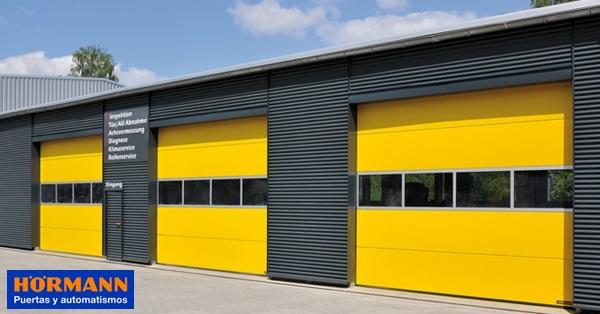 H rmann promoci n limitada puerta seccional spu f42 motorizada con wa 300 s4 - Puertas para naves industriales ...