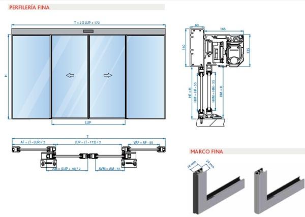 Puertas correderas medidas materiales de construcci n for Puertas de fuelle a medida