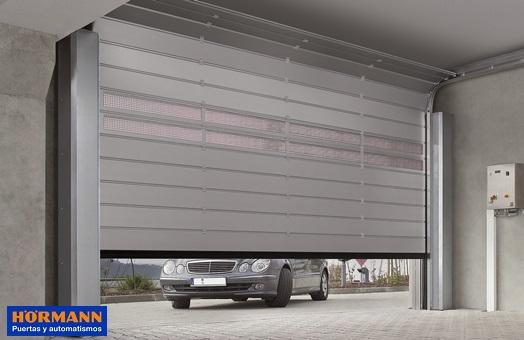 H rmann puertas seccionales adaptadas a la medida del hueco for Precio de puertas enrollables